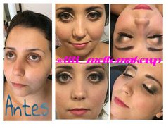 Make de hoje na linda @carolminuzzi preparação de pele #bioderma #clinique pele #kryolan #bareminerals #revlon blush #artdeco iluminador #marylou #thebalm olhos #nudethebalm #nars #makeupforever #ciliosposticosfirstkiss #batommakeb