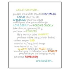 'Life Is Too Short' Box Framed Print by Suzanna Sahakyan Great Quotes, Quotes To Live By, Inspirational Quotes, Awesome Quotes, Motivational Quotes, Essential Oils For Colds, Love Deeply, Life Goes On, Life Is Short