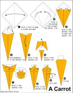 Origami Carrot