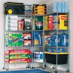 41 Inspiring Hacks Tips Garage Storage Organizations. Your garage may have become a catch all for possessions that won't fit anywhere else. Garage Organization Tips, Garage Storage Systems, Basement Storage, Locker Storage, Storage Racks, Garage Shelving, Shelving Units, Shelving Ideas, Eaves Storage