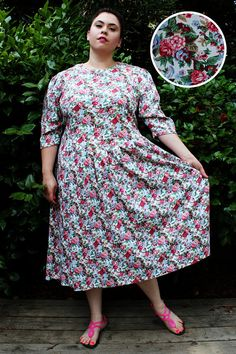 Plus Size Etsy: Amazing retro plus size vintage dress. See more of them by clicking through to the page! #plussize, #plus-size, plus size summer, plus size fashion, plus size dress, plus size retro, plus size vintage, plus size pinup