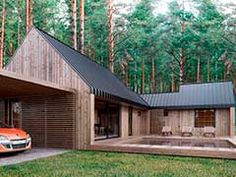 Modern Prefab Homes, Barn Renovation, Pallet House, Weekend House, Forest House, Cabin Design, Pent House, Residential Architecture, House In The Woods