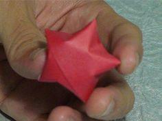 Estrelinhas de papel 3D artesanato em origami