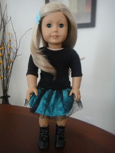Looking for a free sewing pattern for American Girl Dolls or 18 inch dolls? Then you will definitely enjoy this step by step tutorial on how to sew party skirt. Plus links for more free patterns.