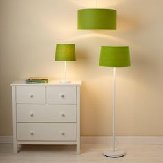 Light Years Green Table Shade and Nickel Base  | The Land of Nod