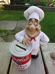 Chef Campbell`s Soup Bank Comical Character Figurine 8 IN.Warren Stratford