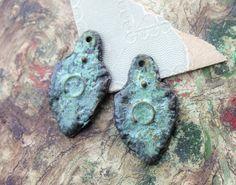 Metalwork Charms  Handmade Handcast Rustic Jewelry by Inviciti