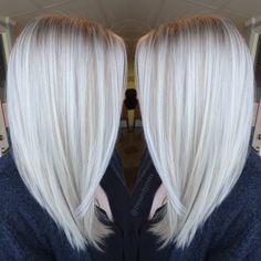 Platinum white blonde balayage                                                                                                                                                     More