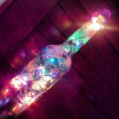 Wine Bottle Mosaic - DIY #lights