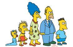 Los Simpsons originales de The Tracey Ullman Show. Padres de Matt Groening, credor de Los Simpsons, se llaman Homer y Margaret, y sus hermanos Mark, Patty, Lisa y Maggie.