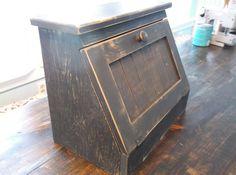 Primitive Bread Box Bread Bin bread box wood bread by SameAsNever