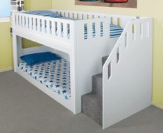 Deluxe Funtime Bunk Bed (Stairs Front) - Bunk Beds - Kids Beds - Kids Funtime Beds