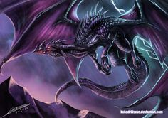 Ardala (in dragon form). Black Dragon. Chaotic Evil. Companion and winged steed of Veronique de Lacy, On Terramere all dragons have human forms.