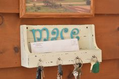 All the keys hung where they need to be and mail in the slot to either mail or open.