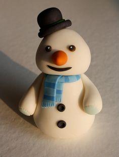 Fondant Doctor Inspired Snowman Cake Topper