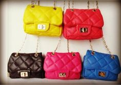 Leather Chanel Inspired Mini Shoulder quilted messenger Purse with Chain  Strap in light-Blue OR green d416296f7289