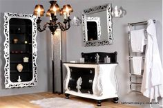 Antique Bathroom Vanities add an old-fashioned charm to your bathrooms Victorian Bathroom, Antique Vanity, Bathroom Design Small, Baths, Antiques, Modern, Furniture, Black, Home Decor