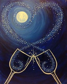 Paint Nite   Hereu0027s To Us Or Use Aurora Art Supplies Colored Pencils! Http: