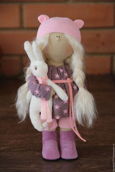 Коллекционные куклы ручной работы. Ярмарка Мастеров - ручная работа. Купить Интерьерная кукла В НАЛИЧИИ. Handmade. Розовый