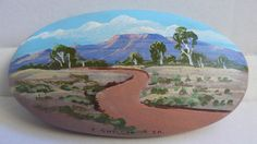 Original+Pebble+Painting+by+Peter+Snelgar+-+Flinders+Ranges,+SA+Landscape++