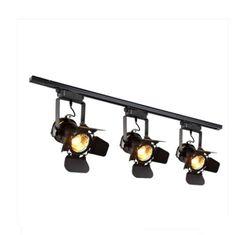 2x £161 office Industrial Loft Black Monorail Spot Light LED Semi