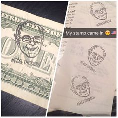 My stamp finally came in the mail! STAMP ALL THE THINGS! - Imgur #BernieSanders #FeelTheBern #NotMeUs #StandTogether #Progressive #DemocraticSocialism #OccupyDemocracy #PoliticalRevolution