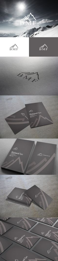 BMF is a finance and investment company, Singapore. Identity project for BMF, Business card double sided printing, Matte lamination with spot UV effect. *Look! A serif font in a new logo! #logo #visualidentity