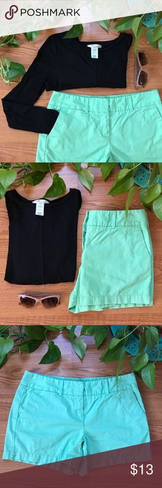 Mint Green LOFT Chino Shorts Riviera Shorts:  • Trouser-style short with from and back pockets • 100% Cotton • Mint green color: dress up or down • Condition: like new! LOFT Shorts
