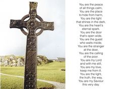 This prayer was a part of our service at church on Sunday. It was part of our Celtic weekend celebrating Saint Andrew patron saint of our church (Saint Andrews' Episcopal) We ended with the p…