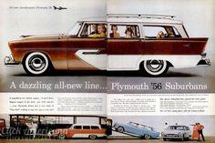 The new Plymouth '56 Suburbans (1956) - Click Americana