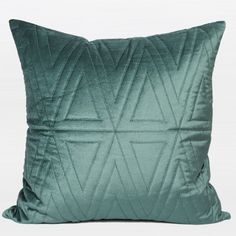 G Home Collection Luxury Quilting Pillow Cover Color: Lack Blue