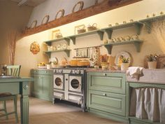 I love the quaintness of this kitchen!