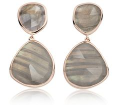 Siren Cocktail Earrings in 18ct Rose Gold Plated Vermeil on Sterling Silver with Labradorite   Jewellery by Monica Vinader