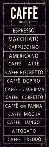 """This is what you are allowed to ask in Italy about coffee...( and please - please stop asking """"latte"""" or """"doppio cappuccino"""", we have some ideas about coffee/cappuccino which are not always the same than Starbucks)"""