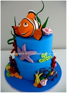 Finding Nemo Birthday cake, Children's Birthday Cake, 1st Birthday Cake Sydney Australia, Kids Birthday Cake,