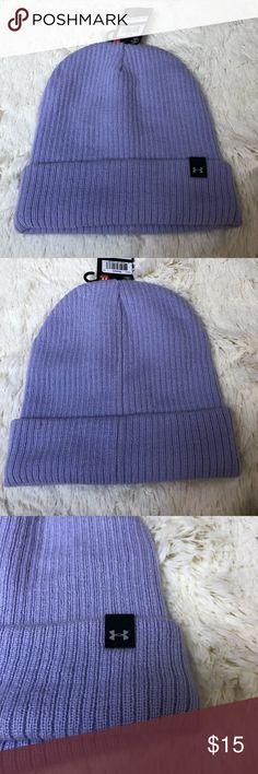 NWT Under Armour Beanie. Light purple women's. NWT. Length 9 inches. Width 8 inches. Under Armour Accessories Hats