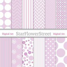 purple scrapbook pattern paper
