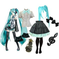 """Hatsune Miku Lolita"" by meiki on Polyvore"
