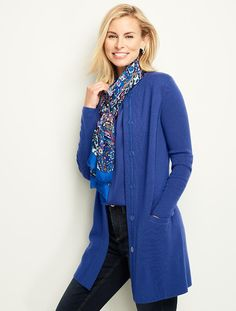 A soft merino wool sweater coat - the perfect layering piece.