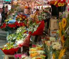 flower market, Nice, France  Those were the days... :-)