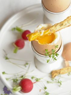 "the perfect soft boiled egg with ""french fingers"" (puff pastry seasoned with cumin seeds) Perfect Boiled Egg, Perfect Eggs, Soft Boiled Eggs, Delicious Breakfast Recipes, How To Cook Eggs, Breakfast Time, International Recipes, Food Photography, Brunch"