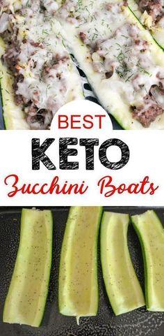 Keto Zucchini Boats – Low Carb Zucchini Boats With Ground Beef – Keto Stuffed Zucchini Recipe {Easy} - Keto Recipes and Ideas - Easy Ground Zucchini Ground Beef Recipe, Beef Zucchini Boats, Ground Beef Keto Recipes, Easy Zucchini Recipes, Healthy Ground Beef, Ground Beef Recipes For Dinner, Healthy Beef Recipes, Dinner With Ground Beef, Best Low Carb Recipes