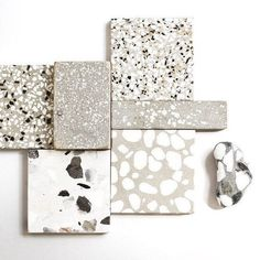 Beachy terrazzo accents in the bathrooms? Terrazzo Flooring, Bathroom Flooring, Küchen Design, Tile Design, Terrazo, Material Board, Floor Texture, Interiores Design, Textures Patterns