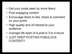 How Can I get My Facebook Posts Seen By More Likers?