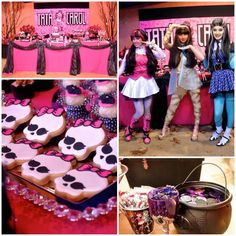 Monster High Themed Party with FULL of Really AWESOME Ideas via Kara's Party Ideas | KarasPartyIdeas.com #TweenParty #Halloween #PartyIdeas #PartySupplies