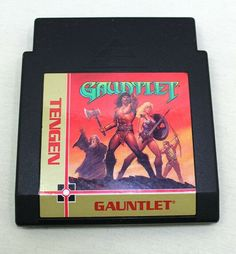 Gauntlet Nintendo NES Gauntlet Black Tengen Game Cartridge Only Nintendo, Games, Store, Ebay, Black, Tent, Shop Local, Black People, Larger