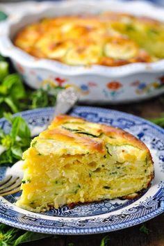 Zucchini Pie Low Carb Zucchini Recipes, Bisquick Recipes, Zucchini Casserole, Bake Zucchini, Casserole Recipes, Vegetarian Recipes, Cooking Recipes, Egg Recipes