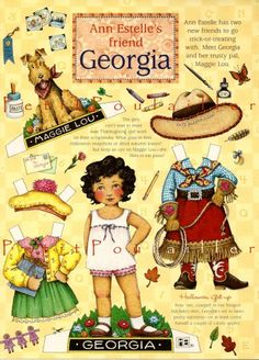 Mary Engelbreit Paper Doll Sheet -Ann Estelles Friend Georgia  The magnetic one didn't have the doggy :(