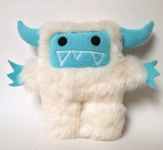 Furry monster yeti  Yetal with the plush yeti by DoodleDollies, $39.95