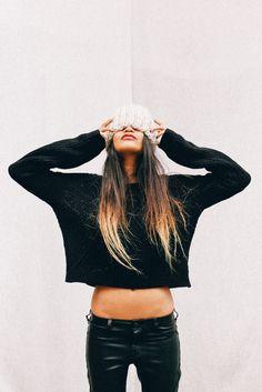 black + beanie.